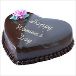 Chocolate heart-shape women's day cake