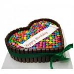 Kitkat Gem Heart Cake