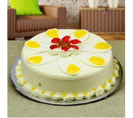 Butterscotch flower cake
